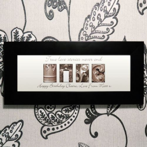 Personalised Affection Art Wife Small Frame